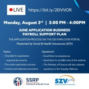 FINANCE & SZV TO HOLD ZOOM MEETING ABOUT BUSINESS PAYROLL SUPPORT