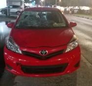 Pedestrian struck by car receives minor injuries