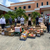 IMA donates non-perishable and dry goods for food baskets