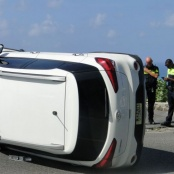 Friday Accident on the Brouwers road leaves driver uninjured