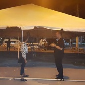 Minister Johnson provides tents for Philipsburg Market Place vendors
